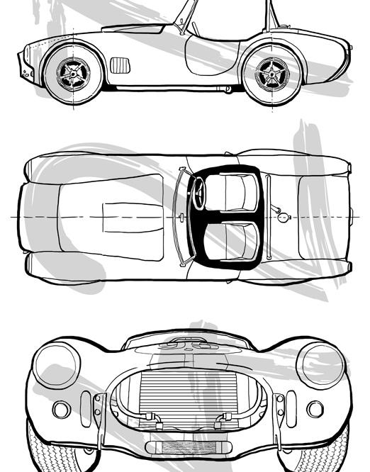 muestra dibujo Manuel Carabias coche