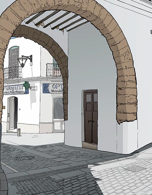 muestra de dibujo de Manuel Carabias, Arco de la Villa